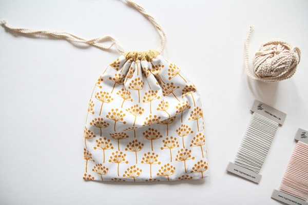 Cute DIY Drawstring Bag Tutorial.
