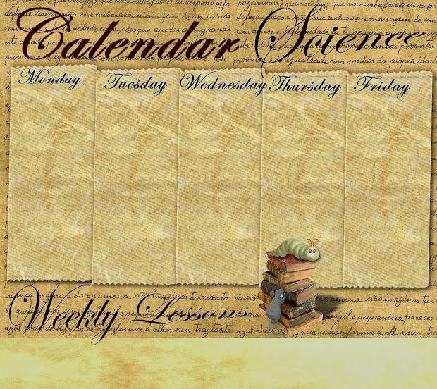 Reading Sage Weekly Calendar Templates 2014