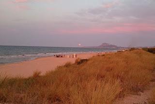 Las playas tranquilas de Oliva Valencia