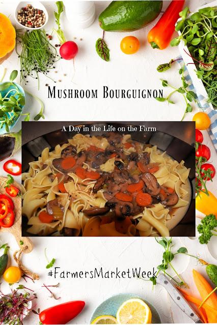 Mushroom Bourguignon pin