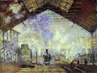 Claude Monet: La Gare de Saint-Lazare