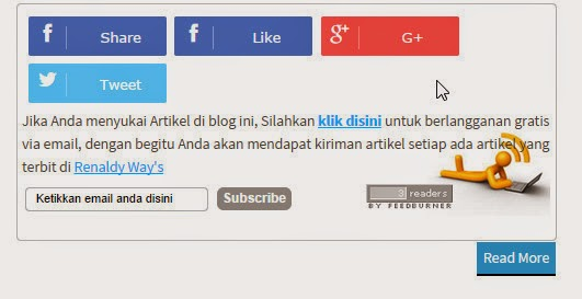 Cara Membuat Share Button Dengan Efek Slide Di Bawah Postingan Blog