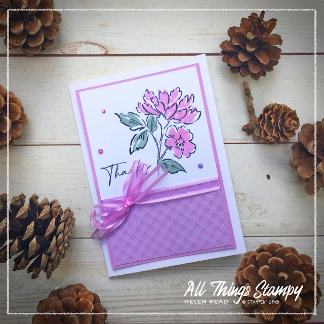 Stampin Up card made with Fresh Freesia In Colors 2021 Hand Penned Petals