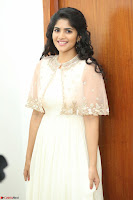 Megha Akash in beautiful Cream Transparent Anarkali Dress at Pre release function of Movie LIE ~ Celebrities Galleries 045.JPG