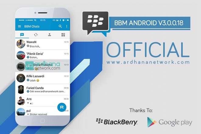 BBM Official V3.0.0.18 - Update Terbaru 28 Juli 2016