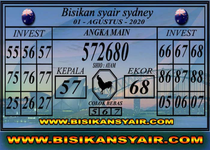 Kode syair Sydney Sabtu 1 Agustus 2020 169