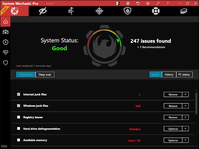 Screenshot System Mechanic Pro 19.5.0.1 Full Version