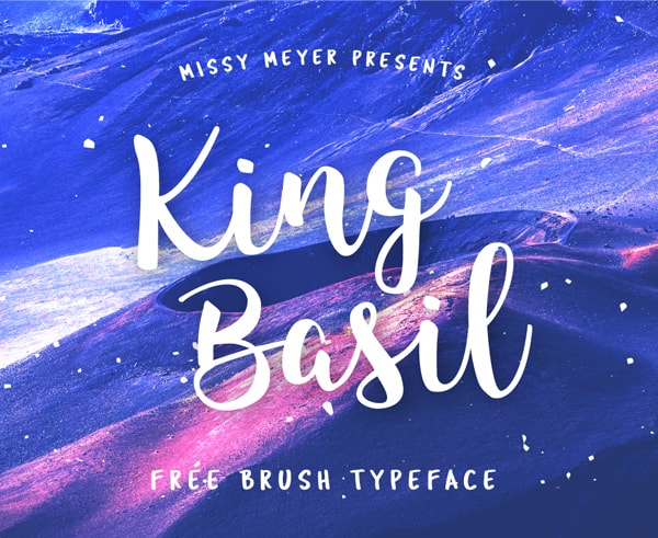 Brush font terbaik 2017 - King Basil – Free Brush Font