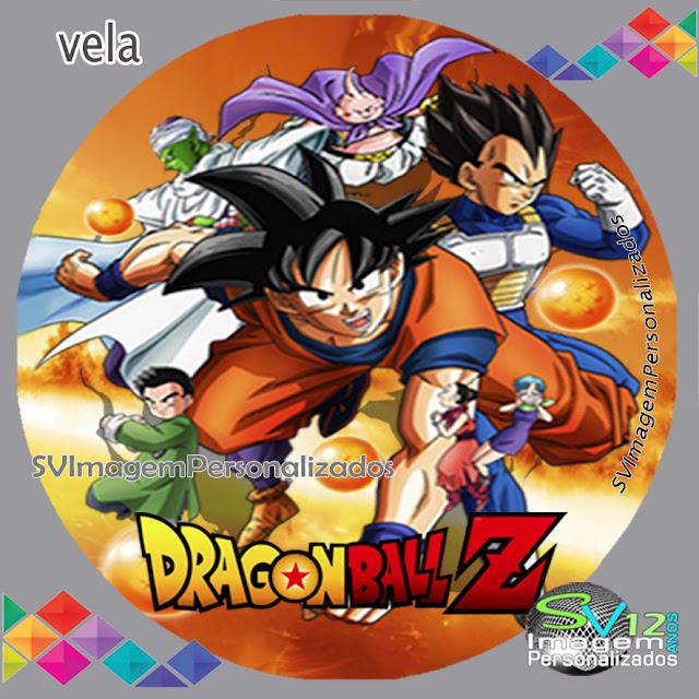 Dragon Ball Z dicas e ideias para decoração de festa personalizados arte redonda para personalizados