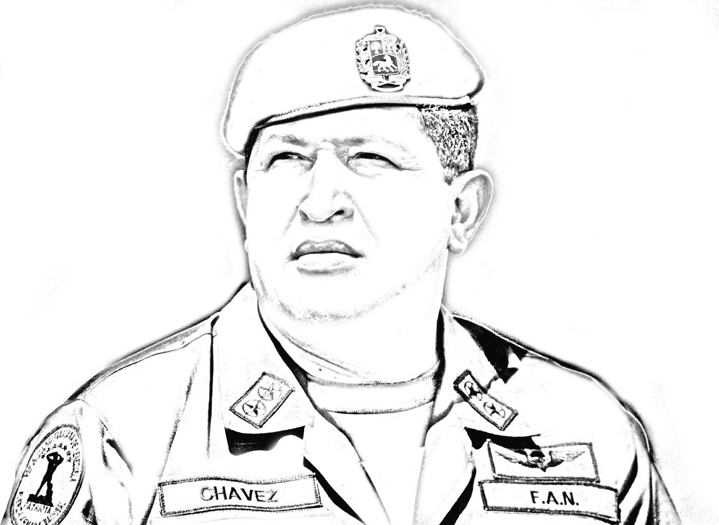 Imagen para pintar de Chavez