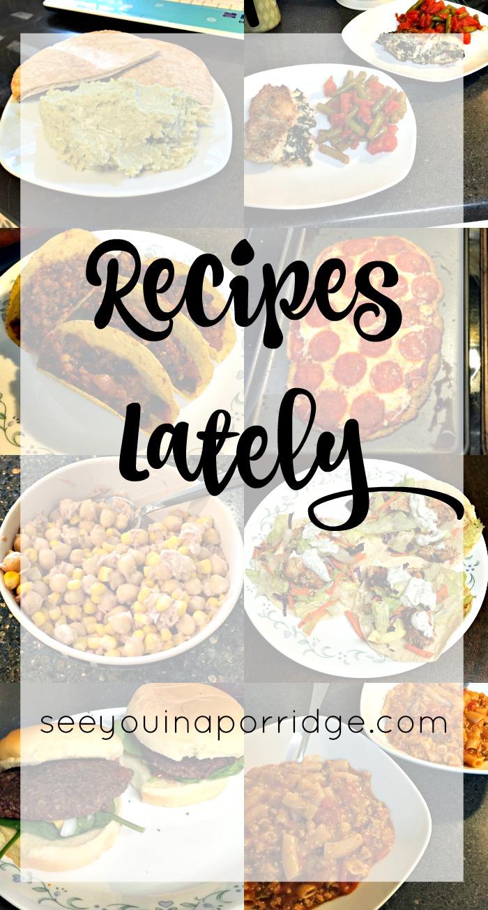 Recipes I've Tried Lately