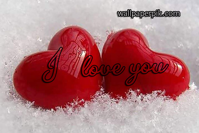 two hearts with i love you image download free