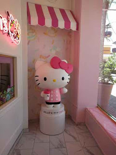 Hello Kitty At the Hello Kitty Grand Cafe.