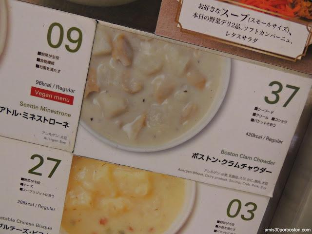 Boston Clam Chowder en un Super de Tokio, Japón