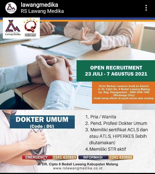 Loker Dokter Umum RS Lawang Medika Kabupaten Malang, Jakarta Timur