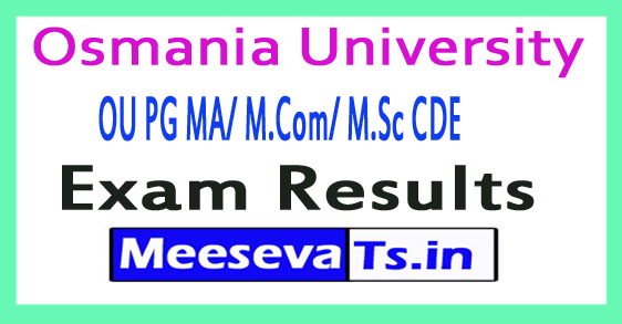 Osmania University PG CDE Exam Results