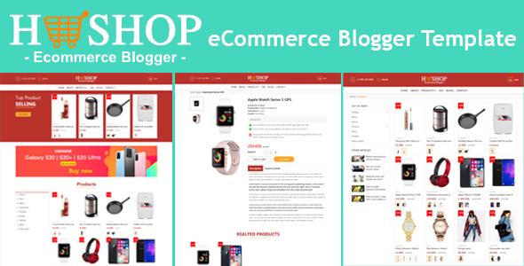 H-Shop eCommerce Blogger Bemplate