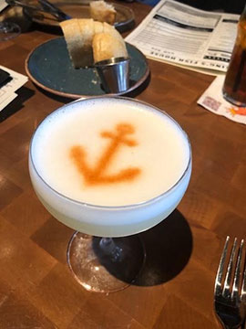 Found a Chilean Pisco Sour on the menu at Kings Fish House (Source: Palmia Observatory)