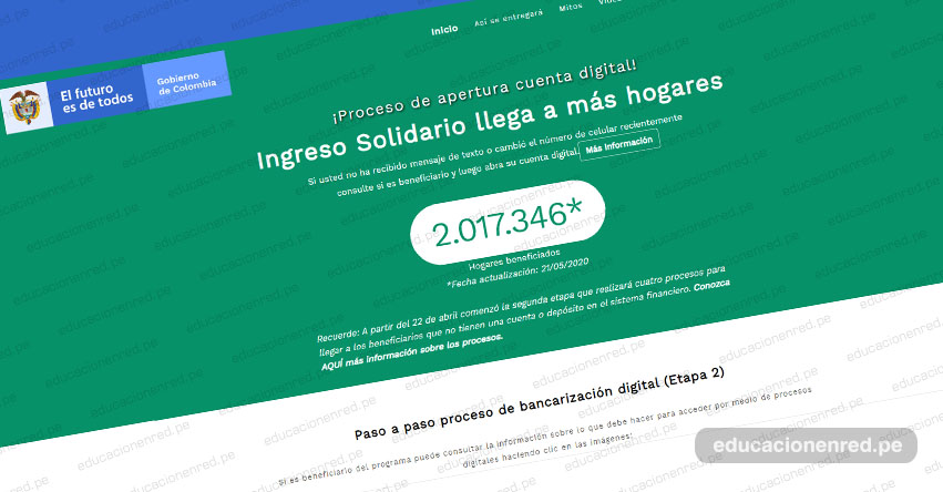 WWW.INGRESOSOLIDARIO.DNP.GOV.CO - Lista de Beneficiarios Segundo Giro - Ingreso Solidario - LINK Oficial