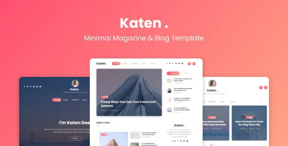 Best Minimal Blog & Magazine HTML Template