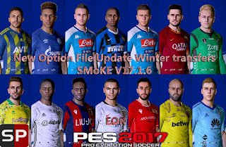 PES 2017 OF Update Winter Transfers 18.01 For SMoKE Patch 17.1.6