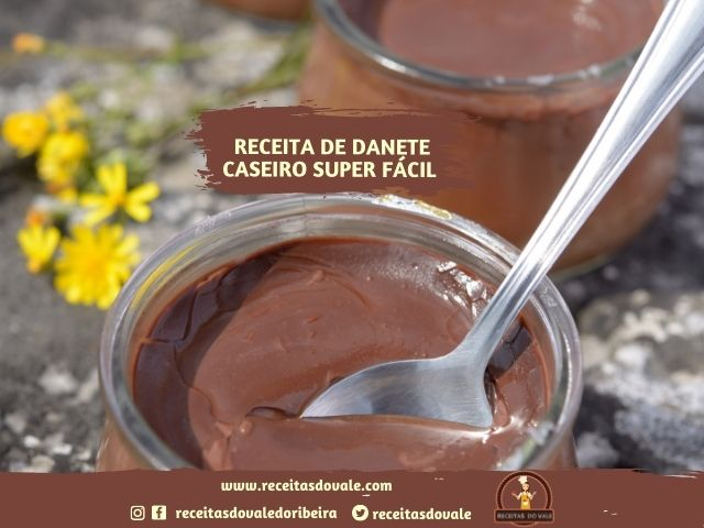 Receita de Danete Caseiro Super Fácil