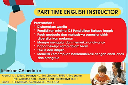 Lowongan Kerja Part Time Tasikmalaya, Tutor Bahasa Inggris Eye Level