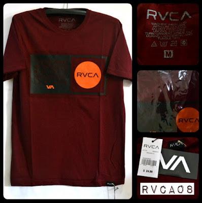 Kaos Distro Surfing Skate RVCA Premium Kode RVCA08
