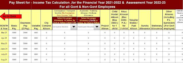 Tax Deduction sheet