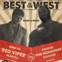 "Combate a muerte entre Oberyn ""The Red Viper"" Martell y Gregor ""The Mountain"" Clegane"