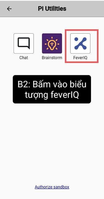 Chọn biểu tượng  FeverIQ