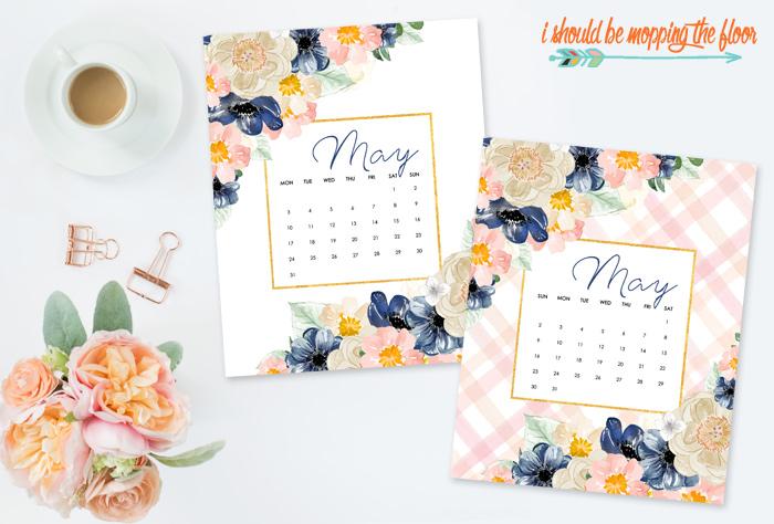 May Calendar Printables