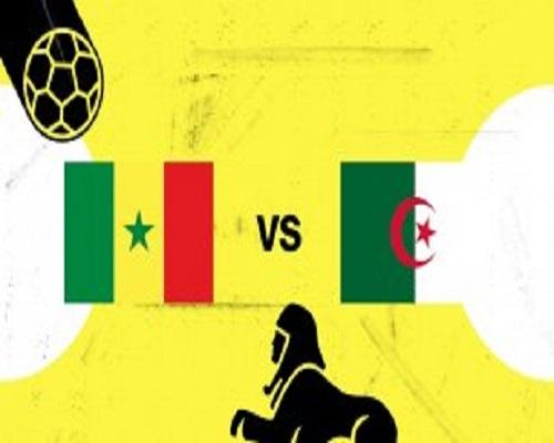 المنتخب الجزائري أمام السنغال