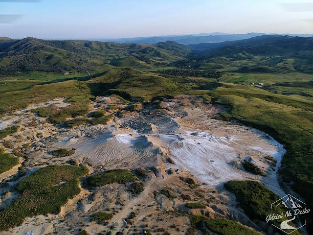 Błotne Wulkany okiem drona
