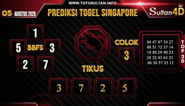PREDIKSI TOGEL SINGAPORE SULTAN4D 05 AGUSTUS 2020