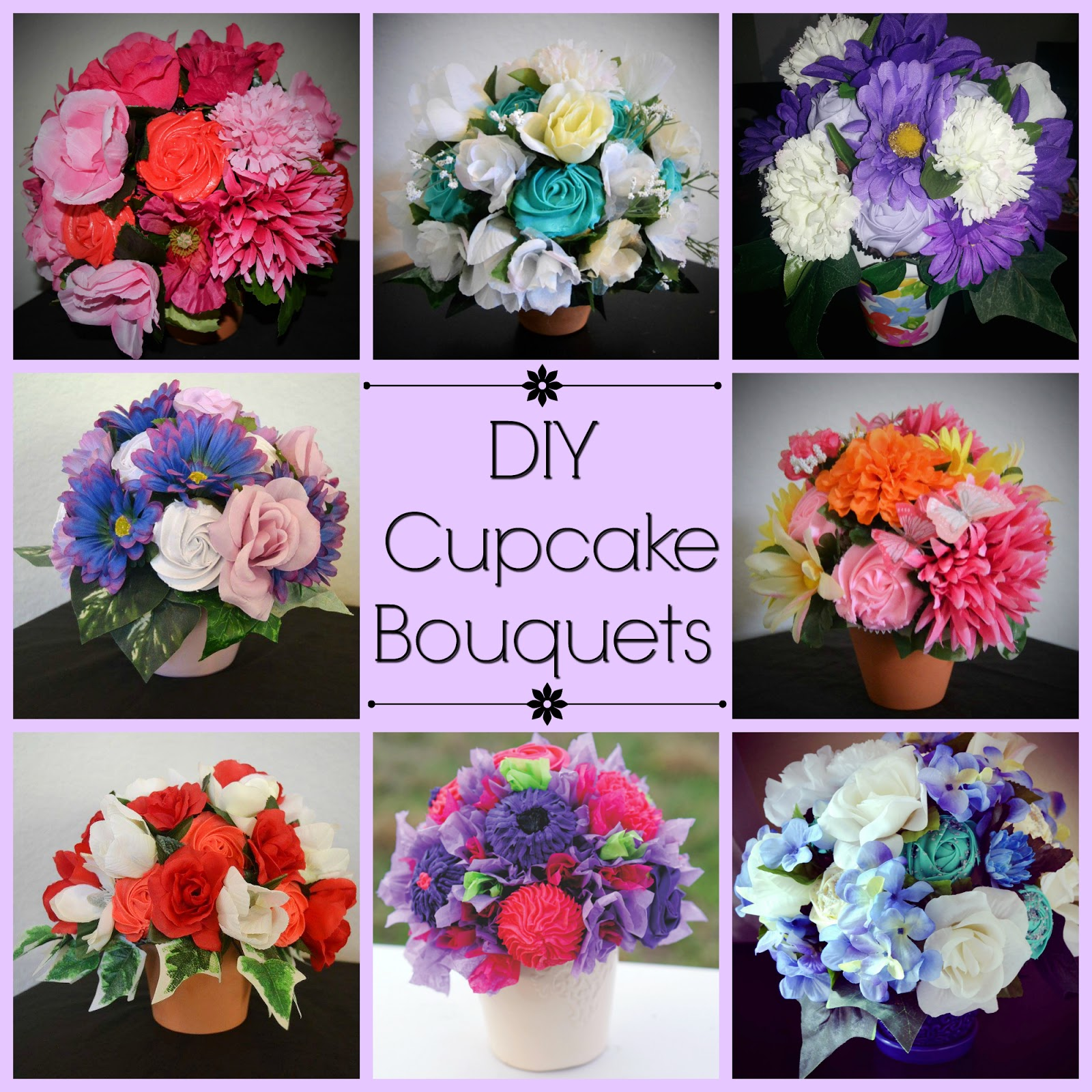 For the love of food diy flower cupcake bouquet i izmirmasajfo