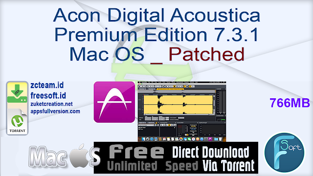 Acon Digital Acoustica Premium Edition 7.3.1 Mac OS _ Patched_ ZcTeam.id