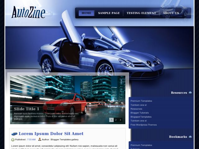 AutoZine Blogger Template