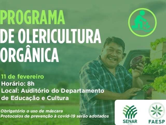 Cajati realiza curso gratuito de olericultura orgânica