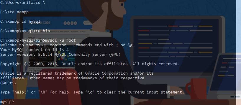 Cara Membuat Database Di CMD Untuk Semua Versi Windows Lengkap