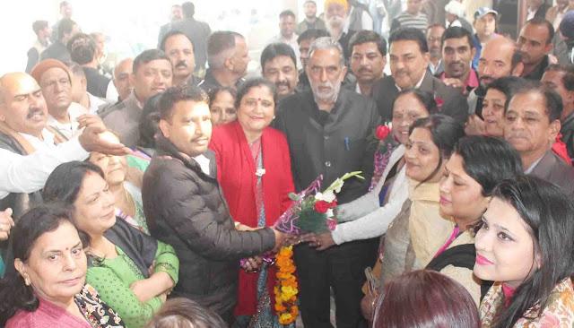 Kusum Mahajan expresses gratitude to the Union Minister of State, Shri K. Krishan Pal Gurjar