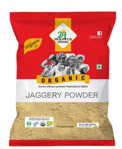 24 Mantra Organic Jaggery Powder, 500 grams