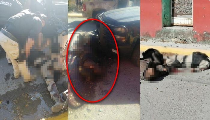 Así quedaron desechos y por los suelos 4 elementos de seguridad y 7 sicarios del CDN tras fuerte topon en Villa Unión, Coahuila