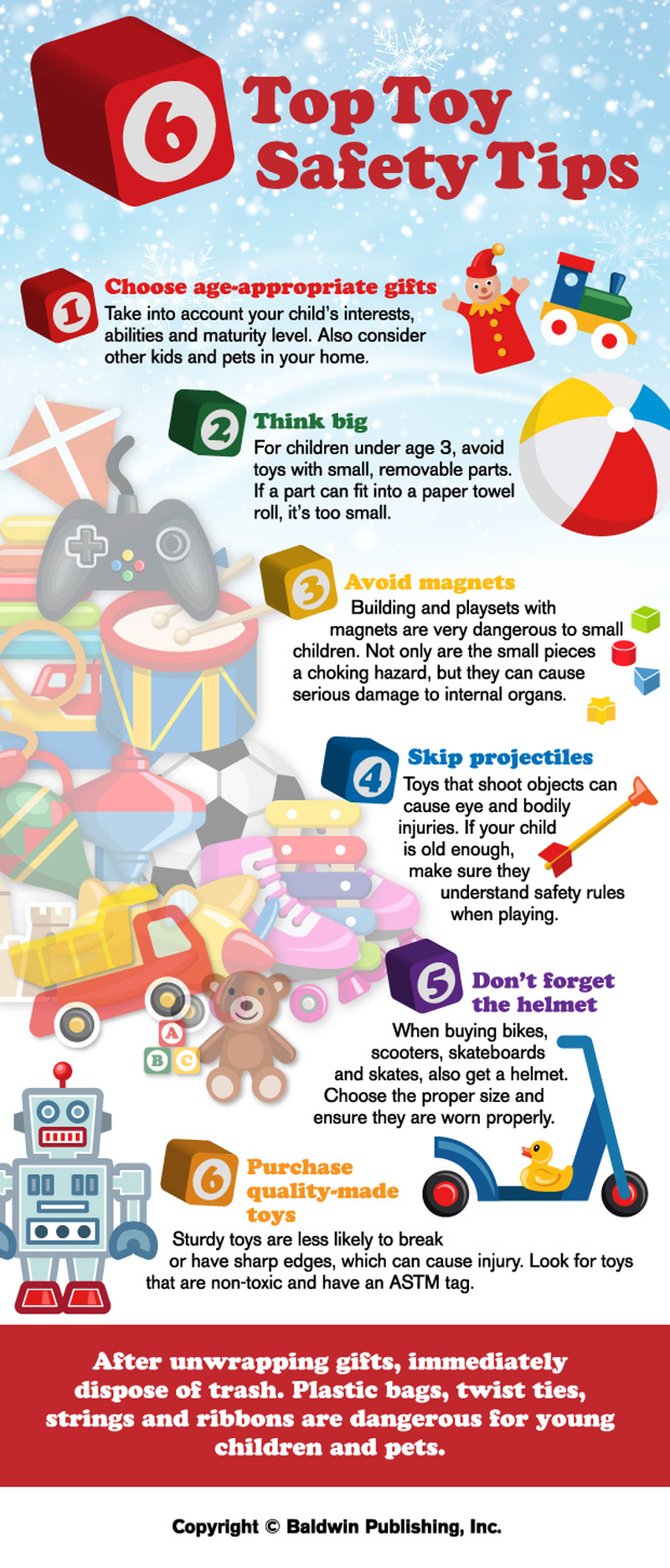 Six Top Toy Safety Tips #infographic #Toy Safety #Tips #Safety