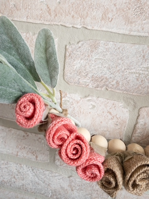 flowers floral wire fuzzy faux leaves floral pick