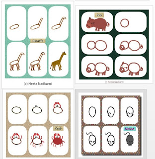 24 fichas para dibujar animales paso a paso