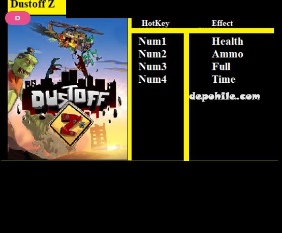 Dustoff Z Oyunu Can, Mermi +4 Trainer Hilesi İndir 2020