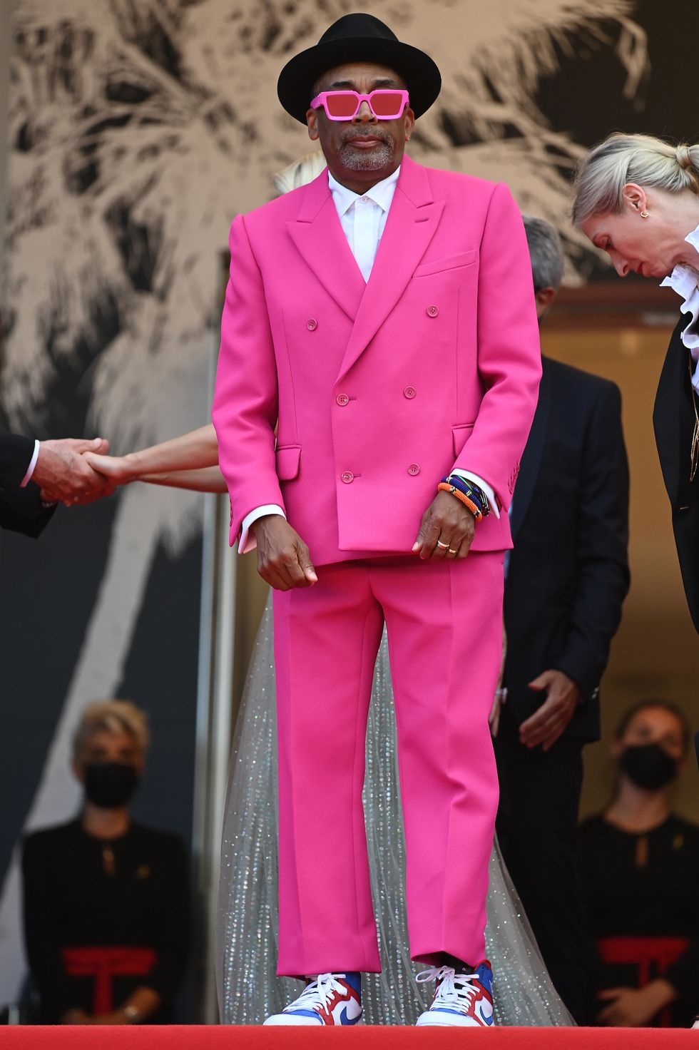 Spike Lee Director Spike Lee, this year's jury president for Cannes, caused a sensation in fuchsia, in a Louis Vuitton suit.