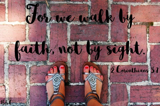 Today, I share my journey of learning to walk by faith and not by sight. I hope you are encouraged by Jesus's love for all of us.