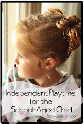 Independent Playtime for the School-Aged Child